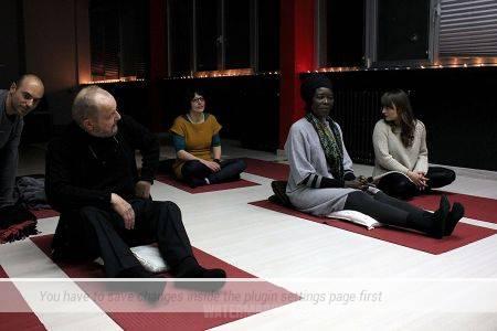 Backstage sessione di meditazione con Cannelle mercoledì 28 febbraio 2018