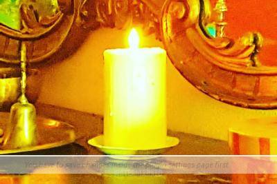 Lighted candle! Gratitude!
