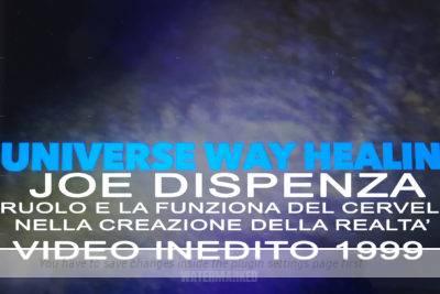 Joe Dispenza – Il ruolo e la funziona del cervello nella creazione della realtà' – Video Inedito 1999